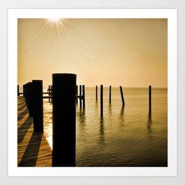 The Sunlit Dock Art Print