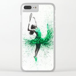 Wimbledon Woman Clear iPhone Case