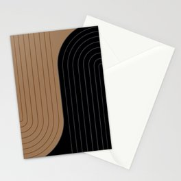 Two Tone Line Curvature XXXVI Stationery Cards