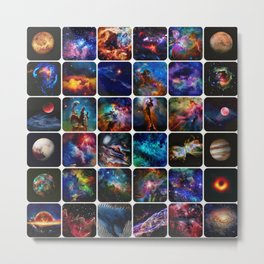 The Amazing Universe 2 - Collection of Space Imagery Metal Print