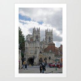 York Minster and Bootham Bar Art Print