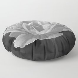 Silver Satin Rose - My Love For You Floor Pillow