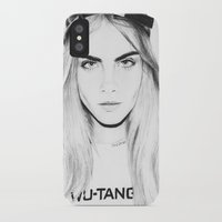 cara iPhone & iPod Cases featuring Cara  by Chris Samba