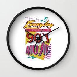 90's Music Wall Clock