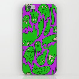 Green Ghosties iPhone Skin