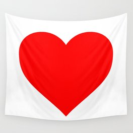 Heart (Red & White) Wall Tapestry