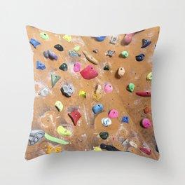 Wooden boulders climbing gym bouldering photography Throw Pillow