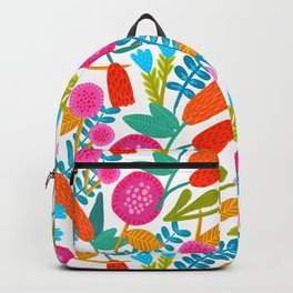 Colorful Floral Pattern Backpack