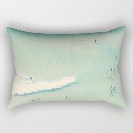 beach summer waves Rectangular Pillow