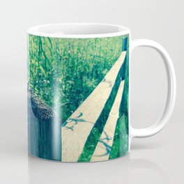 Grasshopper on a Fence Post Coffee Mug
