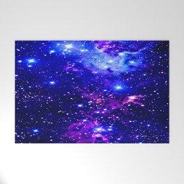 Fox Fur Nebula Galaxy blue purple Welcome Mat