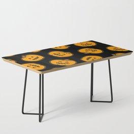 Jack O' Lantern Pattern in orange and black Coffee Table