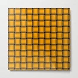 Orange Weave Metal Print