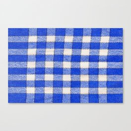 Gingham / vichy Pattern -strips,fashion,squares,french,vichy, gingham,bistrot,textiles,indie Canvas Print