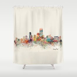 jersey city new jersey Shower Curtain