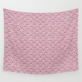 Waves in Pink Wall Tapestry