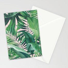 JUNGLE PALM PRINT BLUSH Stationery Cards
