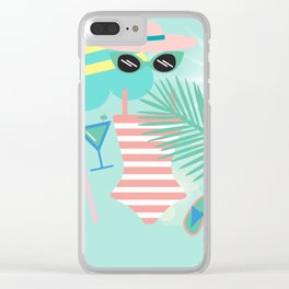 Palm Springs Ready Clear iPhone Case