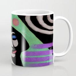 Abstract Digital Portrait of a Woman Coffee Mug