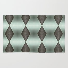 Mint Green, Cream & Chocolate Brown No. 5 Rug
