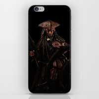 jack sparrow iPhone & iPod Skins featuring Jack Sparrow by if0nly