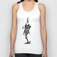 soul eater Tank Tops featuring lord death soul eater by Rebecca McGoran