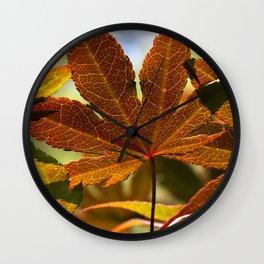 Japanese Maple Leaf Wall Clock