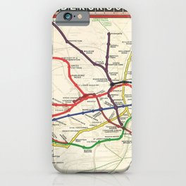 Vintage London Underground Railways iPhone Case