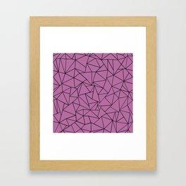 Ab Outline Bodacious Framed Art Print