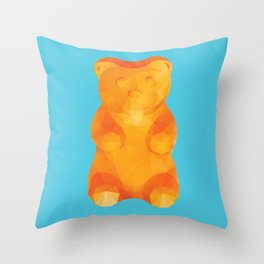 Gummy Bear Polygon Art Throw Pillow