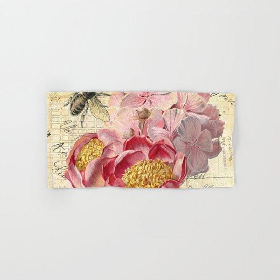 Vintage Flowers #20 Hand & Bath Towel