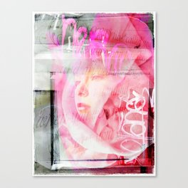 Pink Reveiled Canvas Print