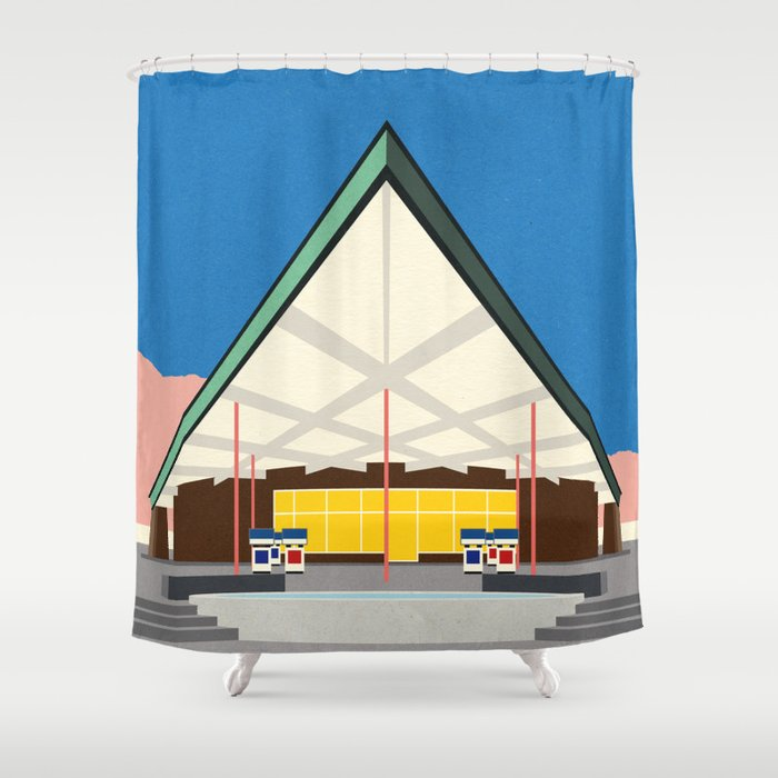 Tramway Gas Station Palm Springs Shower Curtain