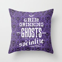 Haunted Mansion - Grim Grinning Ghosts Throw Pillow