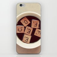 coffee iPhone & iPod Skins featuring COFFEE by elle moss