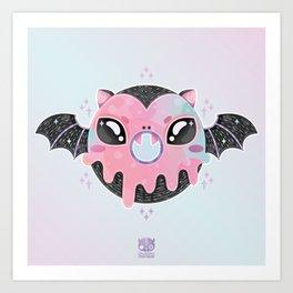 Batty Donut Art Print