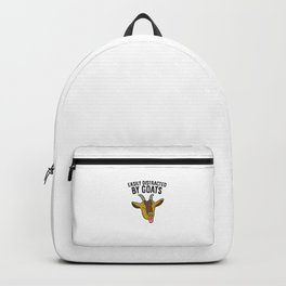 Easily Distracted By Goats Funny Goat Farmer Backpack