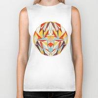 glitch Biker Tanks featuring Everything is Fine by Anai Greog