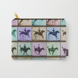 Time Lapse Motion Study Horse And Rider Color Carry-All Pouch