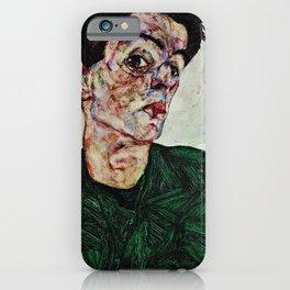 Egon Schiele  -  Self Portrait With Chinese Lantern Plant iPhone Case