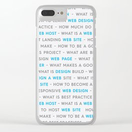 Blue Web Design Keywords Poster Clear iPhone Case