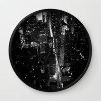 manhattan Wall Clocks featuring Manhattan by Anne Dante