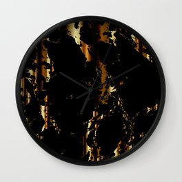 Black and Gold Marble Design Wall Clock