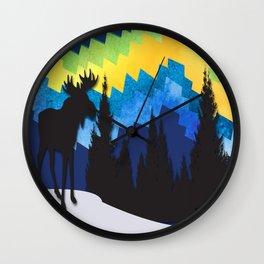 Moose Mountain Ridge Wall Clock
