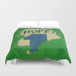 Hope!! (time machine ) Duvet Cover