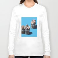 cupcakes Long Sleeve T-shirts featuring Cupcakes by Jody Edwards Art