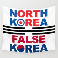 korea Wall Tapestries featuring North Korea by pollylitical