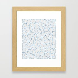 Stone Wall Drawing #1 Framed Art Print