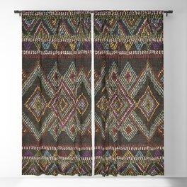 Dark Traditional Moroccan Boho Artwork A4 Blackout Curtain