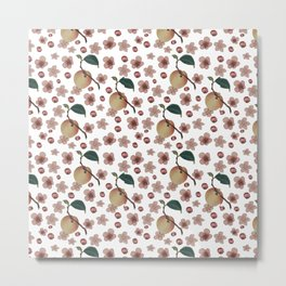 peaches pattern Metal Print
